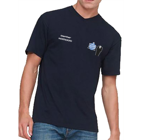 F61066 blu loghi 2 1 600x594 - T-shirt Uomo Collo a V Ethical Hacker