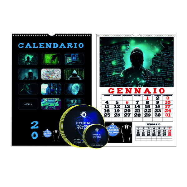 KIT ADESIVI + CALENDARIO 2021 ETHICAL HACKER